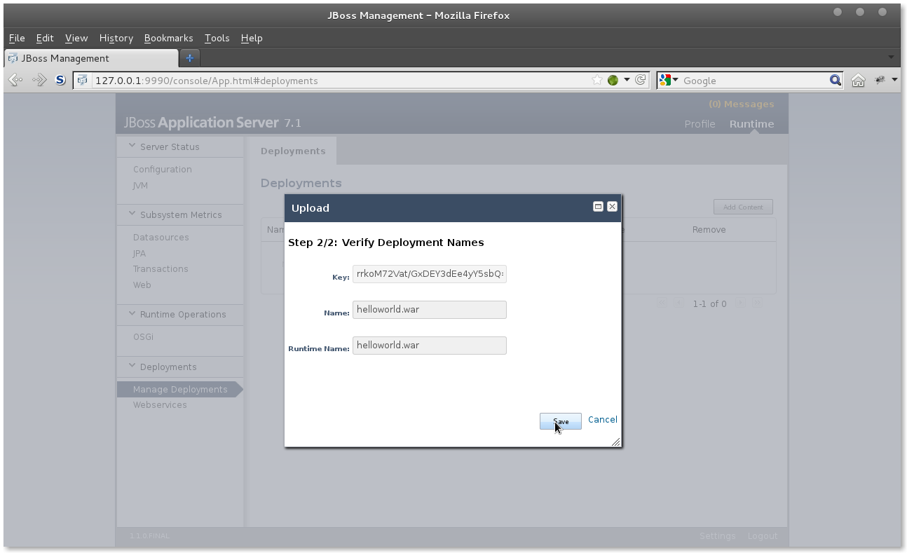 JBoss AS 7 deploy app step 2