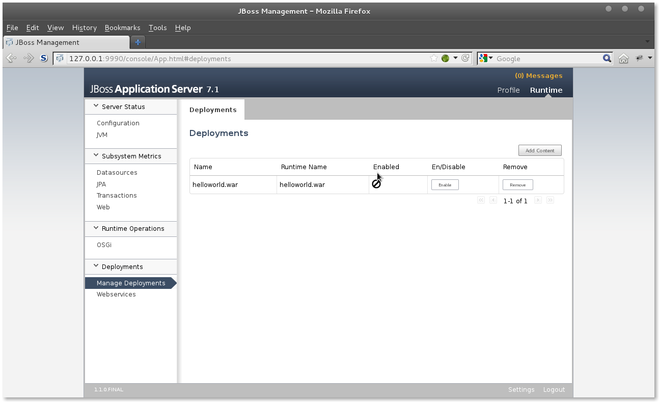 JBoss AS 7 deploy app step 3